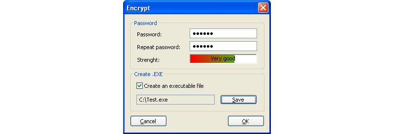 Image of Set Password for Encrypted Image